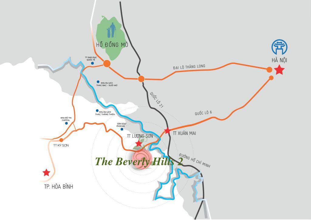 vị trí dự án beverly hill lương sơn