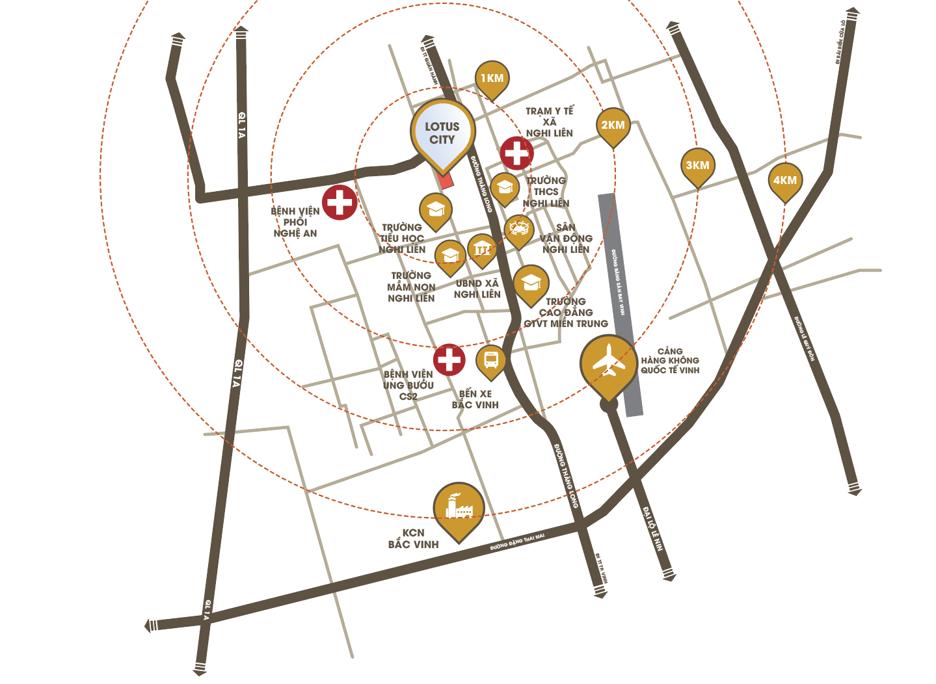 vị trí dự án lotus city nghi liên