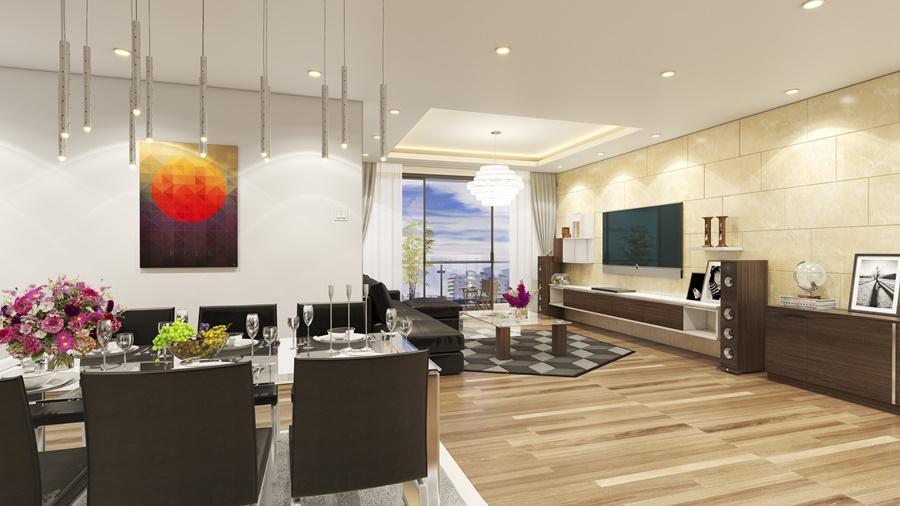 nội thất căn hộ brg park residence