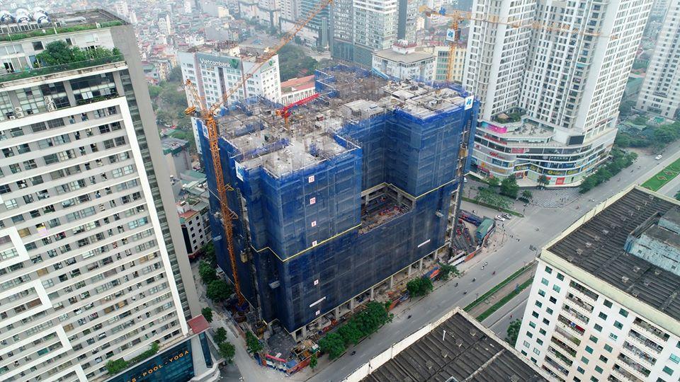 tiến độ xây dựng dự án brg park residence
