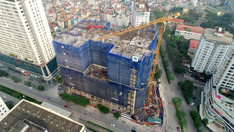 tiến độ thi công dự án brg park residence