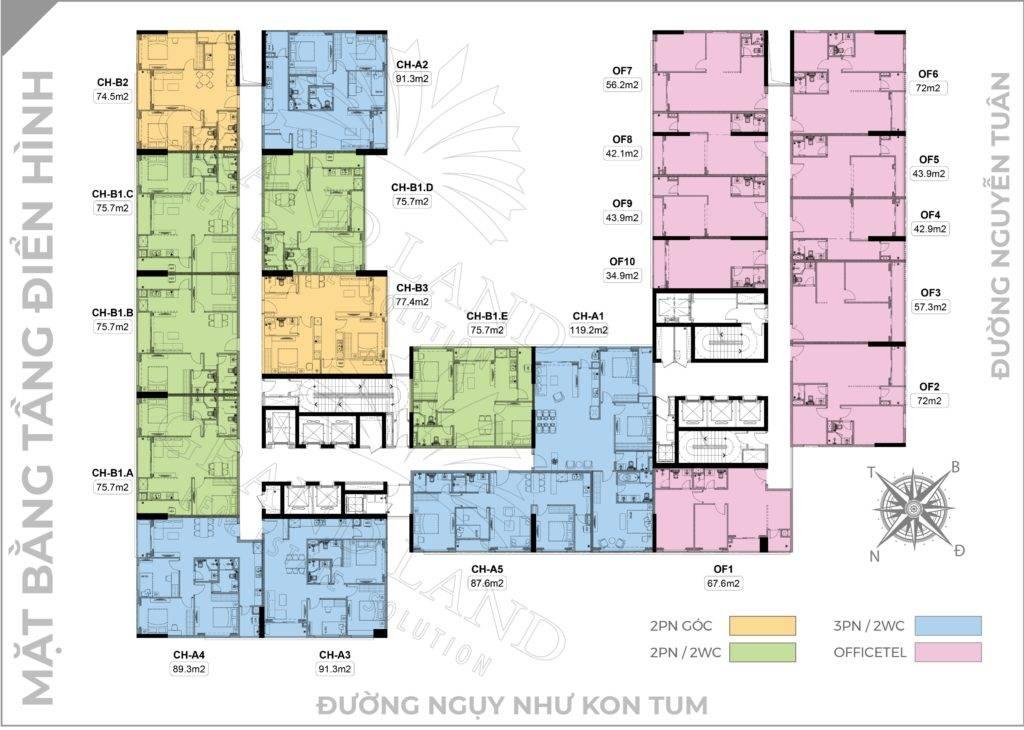mặt bằng chung cư harmony square thanh xuân
