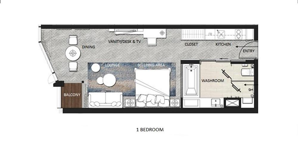 thiết kế căn hộ 1 ngủ chung cư a la carte hạ long