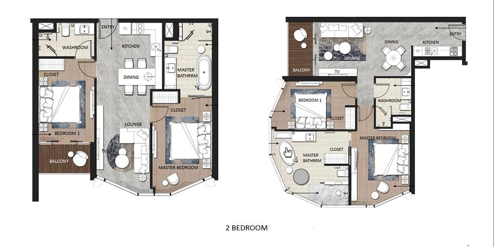 thiết kế căn hộ 2 ngủ chung cư a la carte hạ long