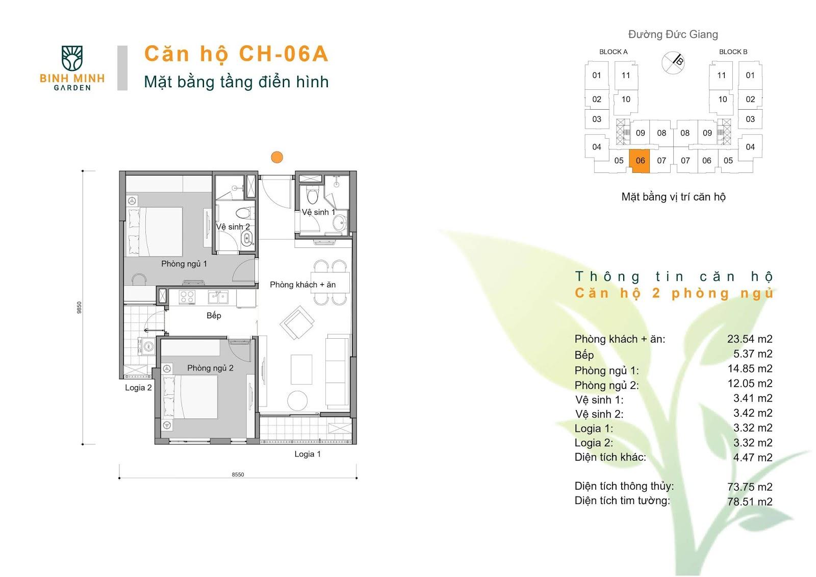 thiết kế căn hộ ch6