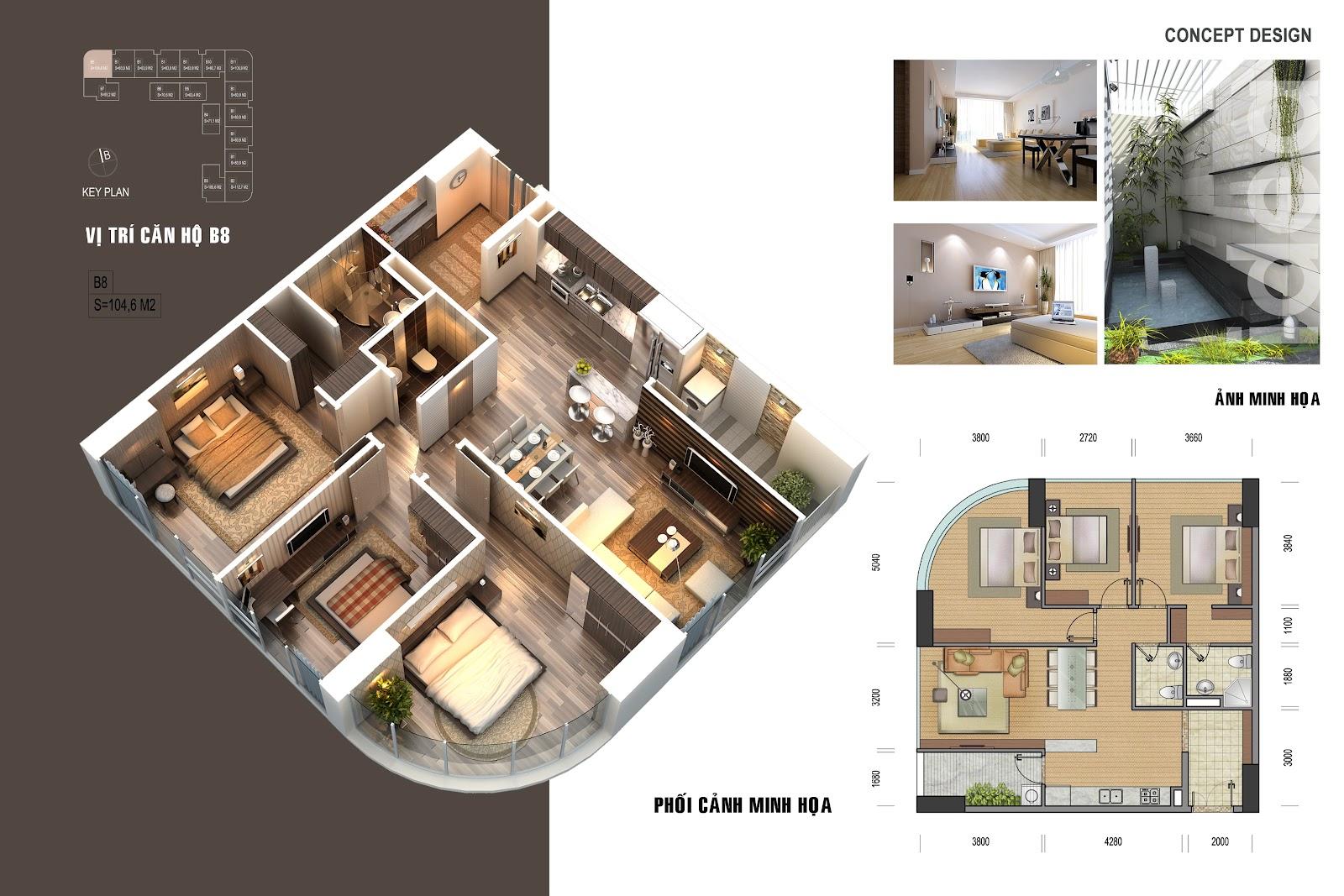 thiết kế chi tiết căn hộ 5