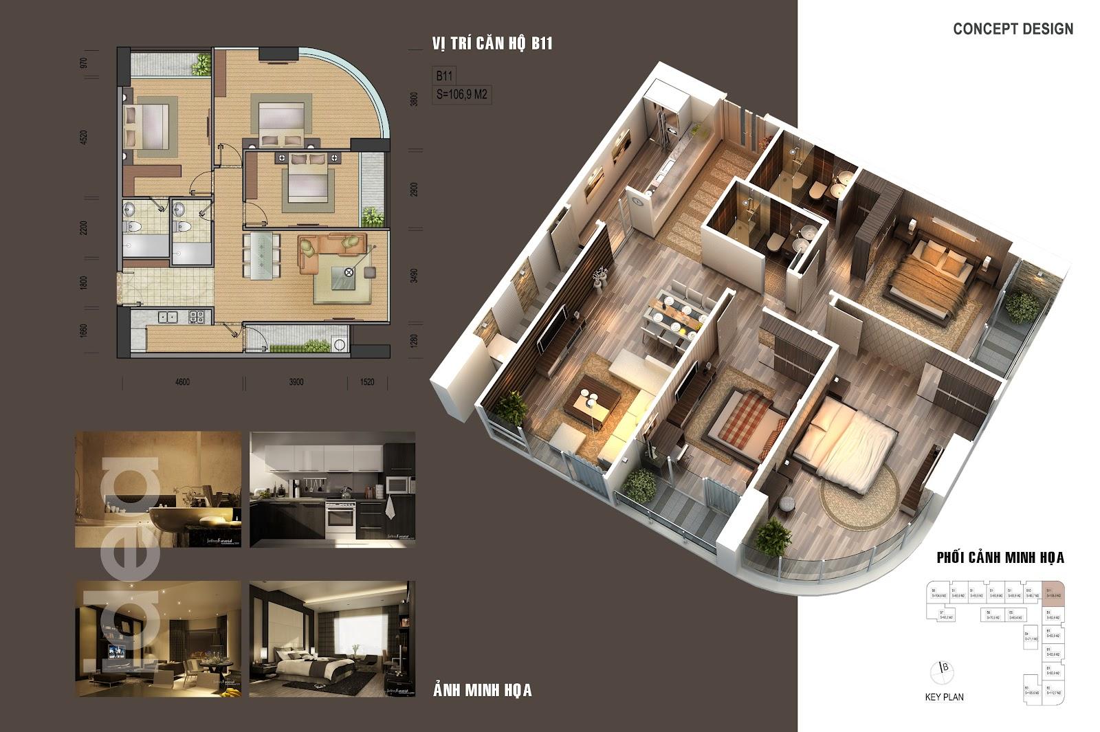thiết kế chi tiết căn hộ 6