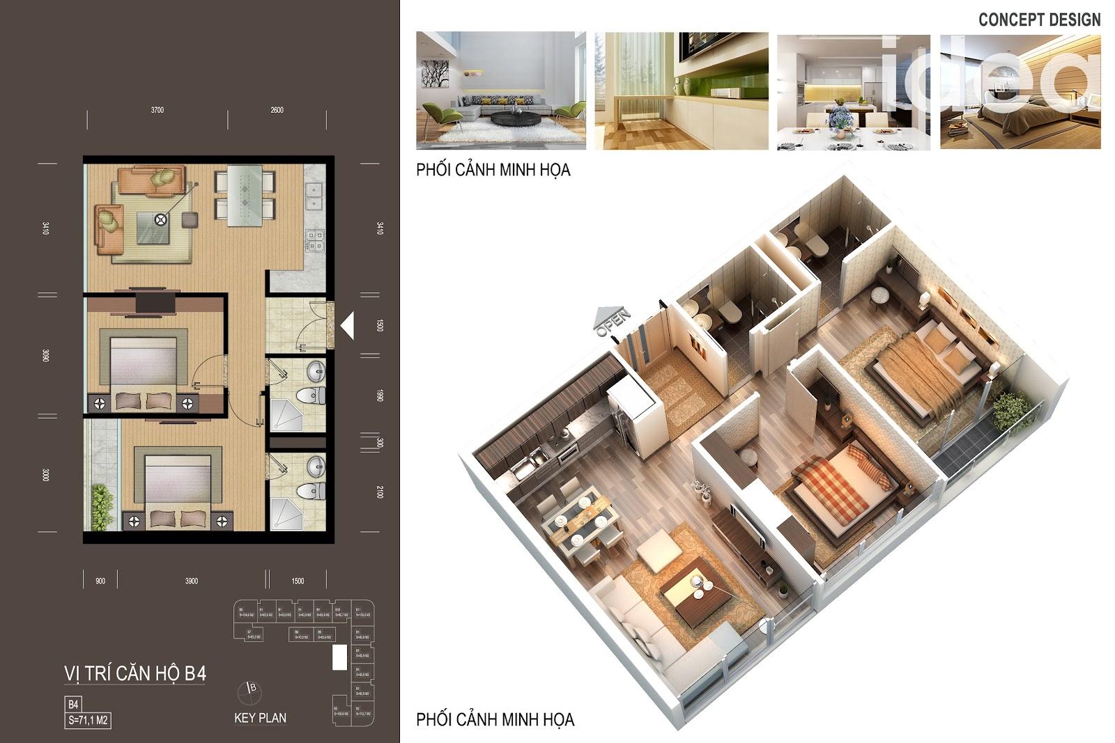 thiết kế chi tiết căn hộ 7