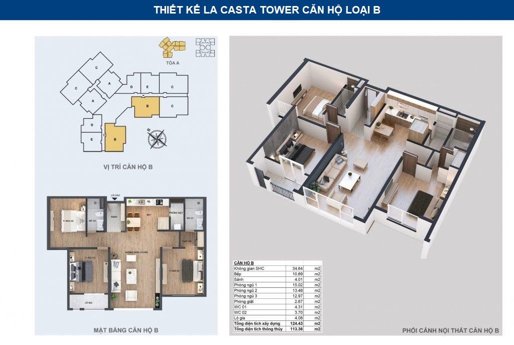 thiết kế chi tiết căn hộ b