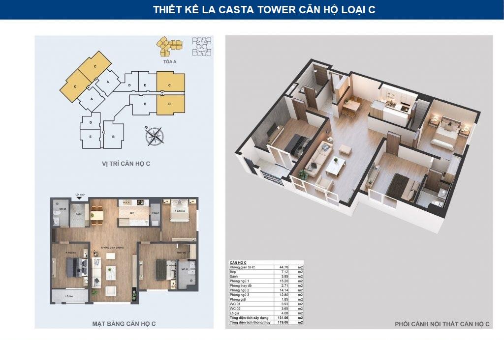 thiết kế chi tiết căn hộ c