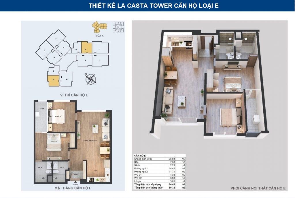 thiết kế chi tiết căn hộ e