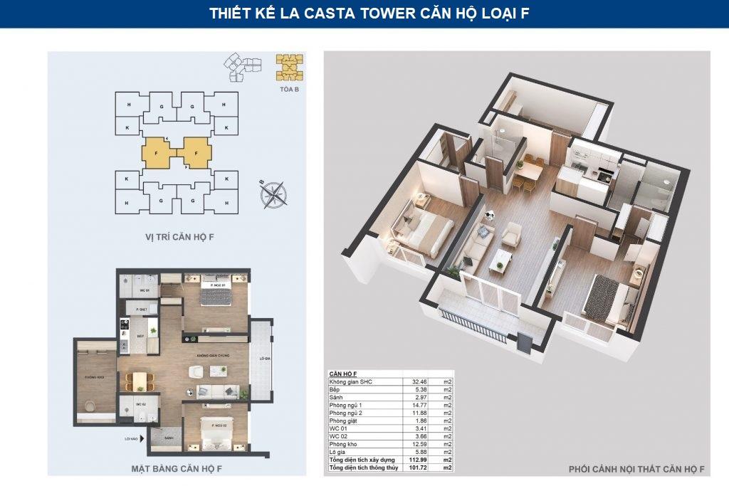 thiết kế chi tiết căn hộ f