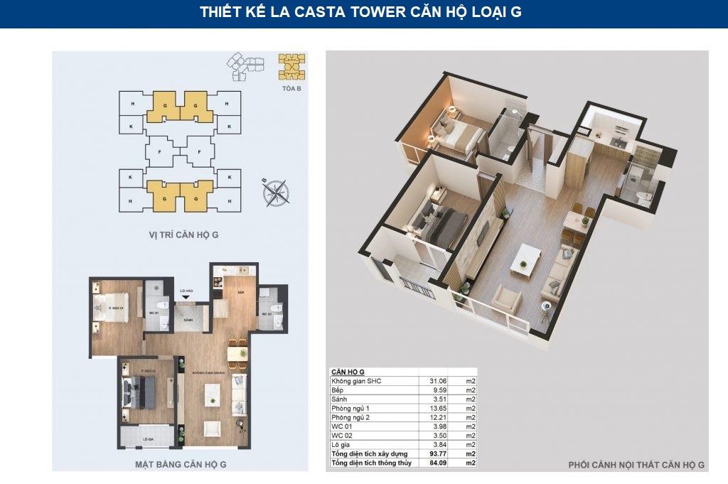 thiết kế chi tiết căn hộ g