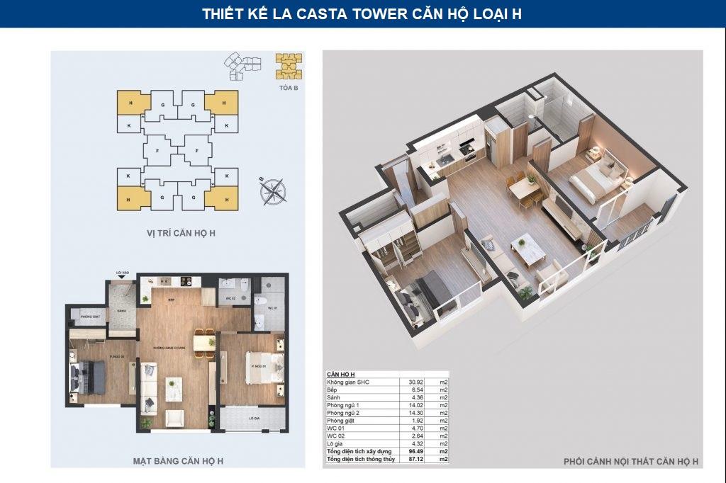 thiết kế chi tiết căn hộ h