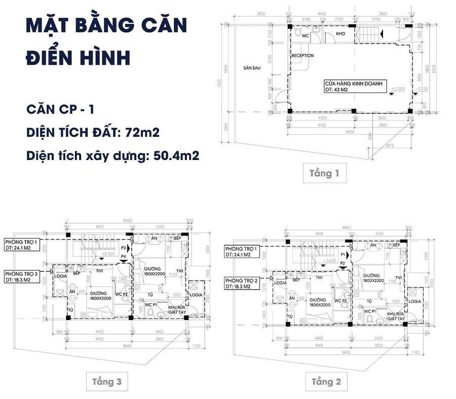 thiết kế shophouse apec điềm thụy 3