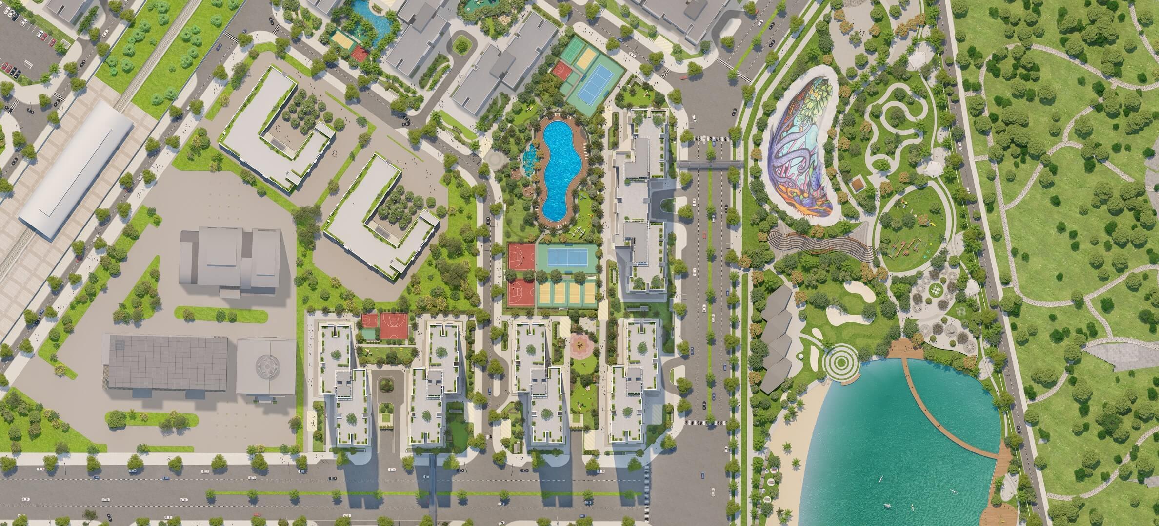 Mặt bằng tổng thể dự án Imperia Smart City Tây Mỗ