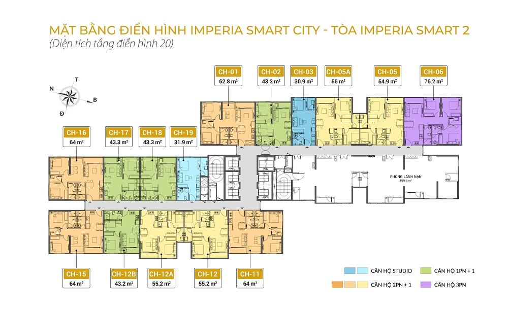mặt bằng chung cư imperia smart city tòa IS2 tầng 20
