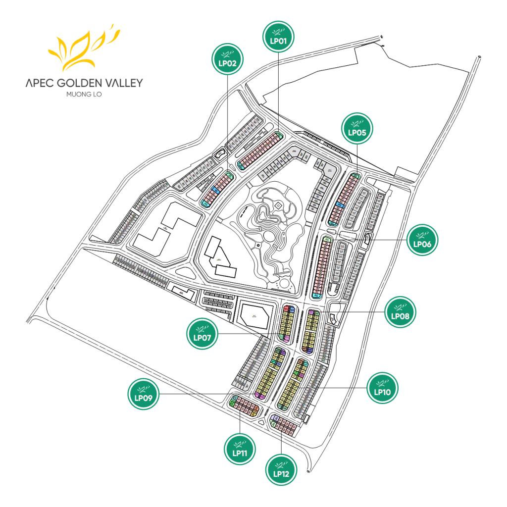 mặt bằng dự án apec golden valley mường lò nghĩa lộ