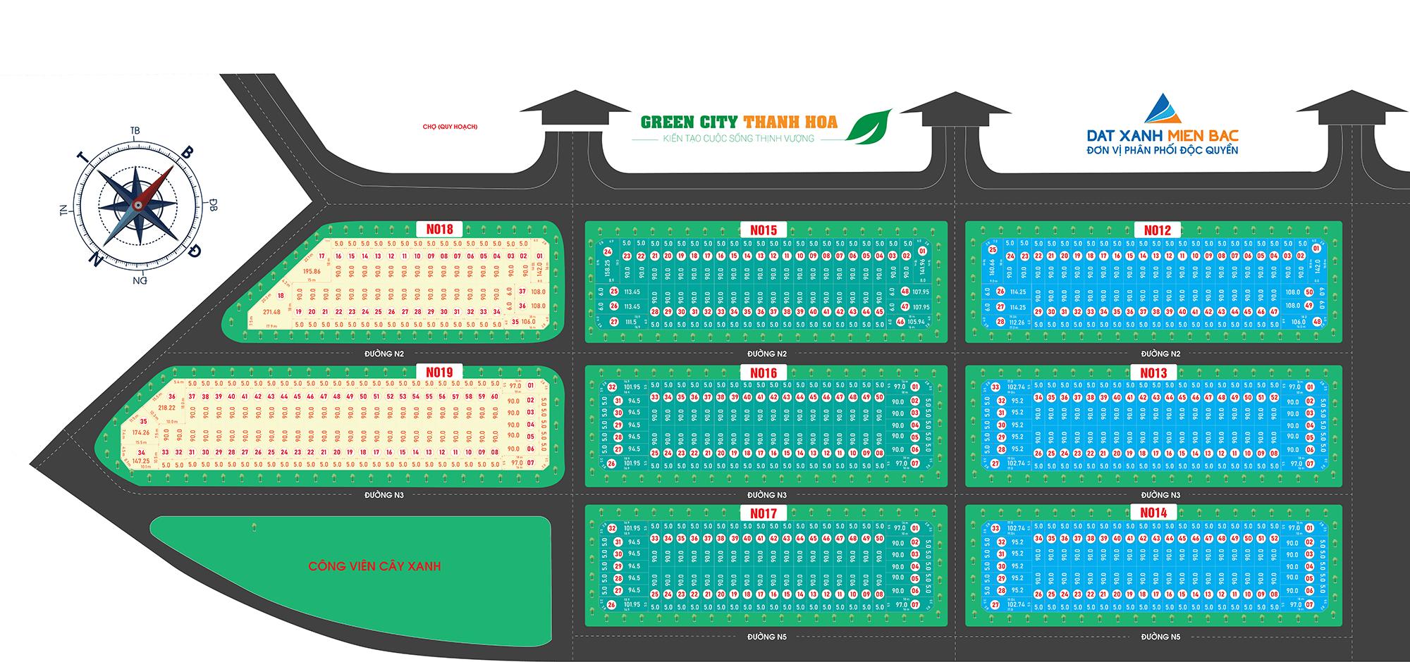 mặt bằng dự án green city thanh hóa