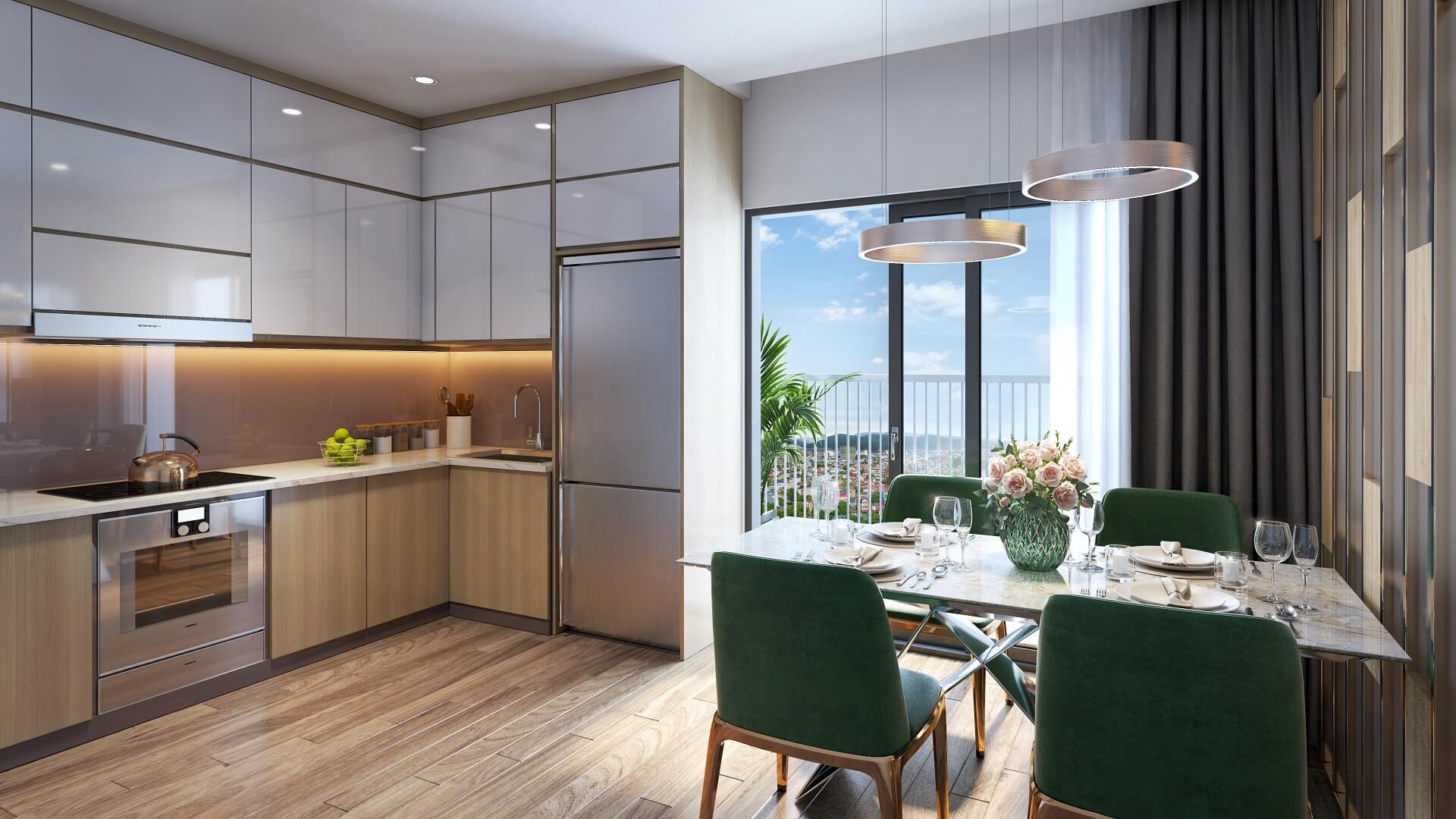 nội thất phòng bếp tecco elite city