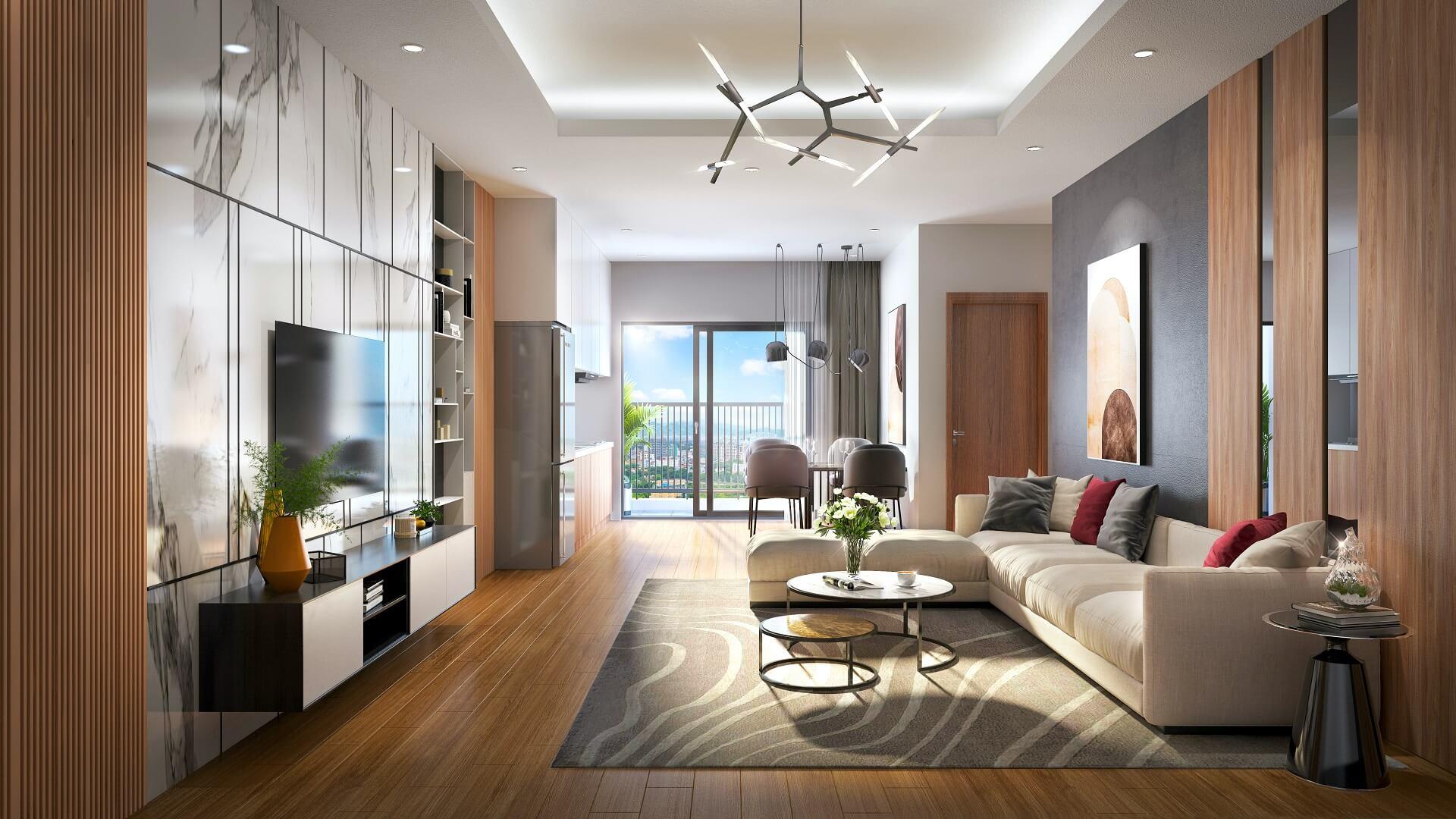 nội thất phòng khách tecco elite city