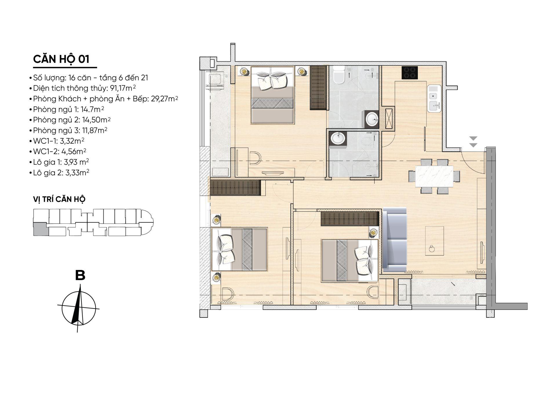 thiết kế chi tiết căn hộ 1