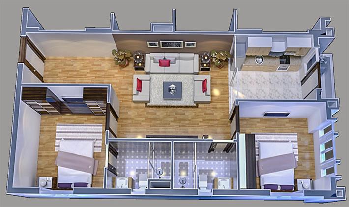 thiết kế căn hộ new pruksa town
