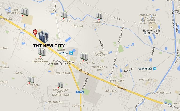 vị trí dự án tht new city