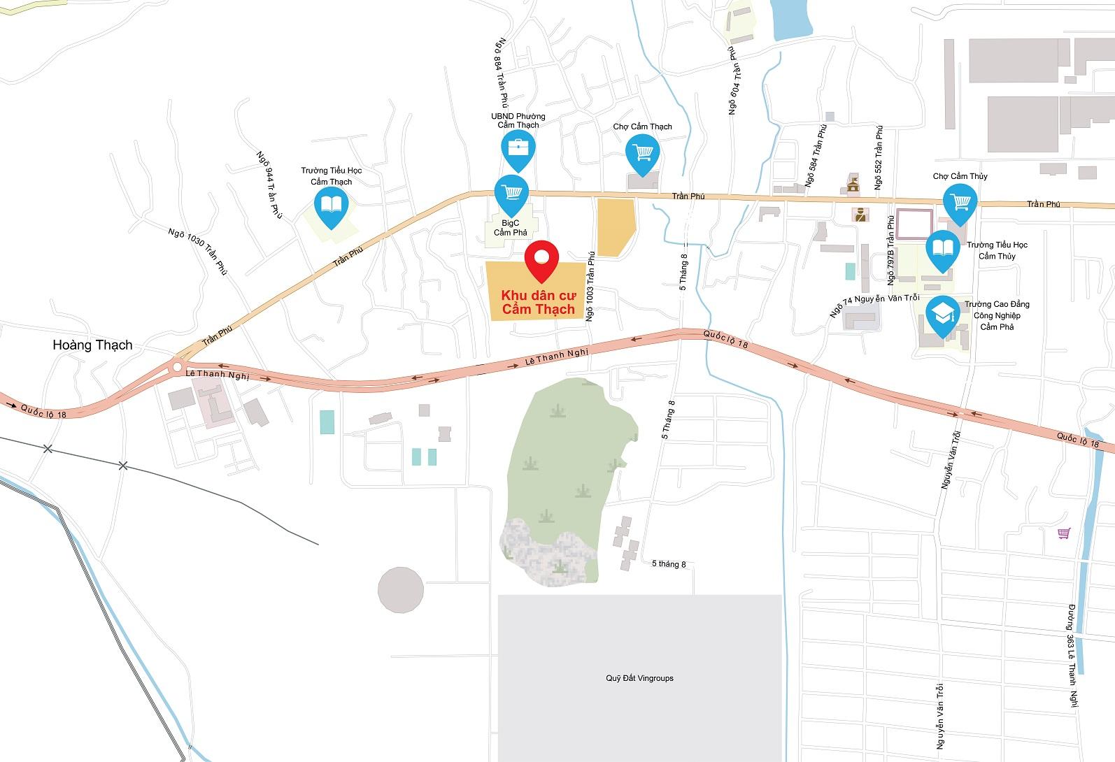 vị trí khu dân cư cẩm thạch residence