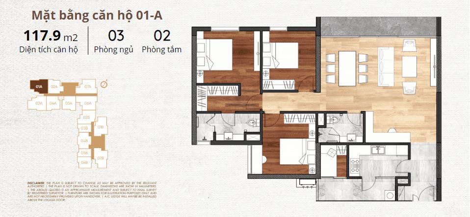 thiết kế chi tiết căn hộ 1a