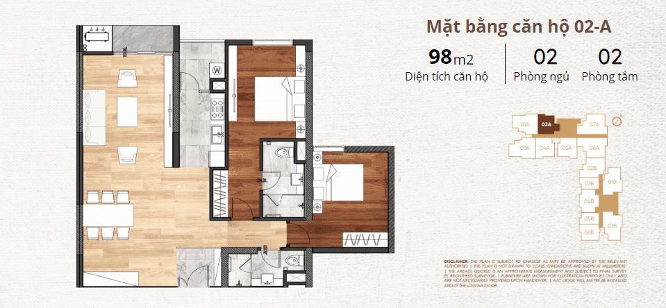 thiết kế chi tiết căn hộ 2a