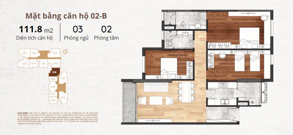 thiết kế chi tiết căn hộ 2b