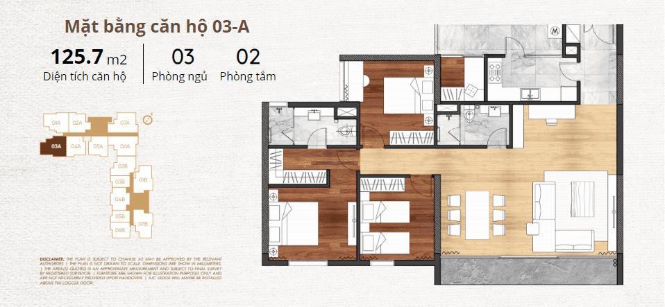 thiết kế chi tiết căn hộ 3a