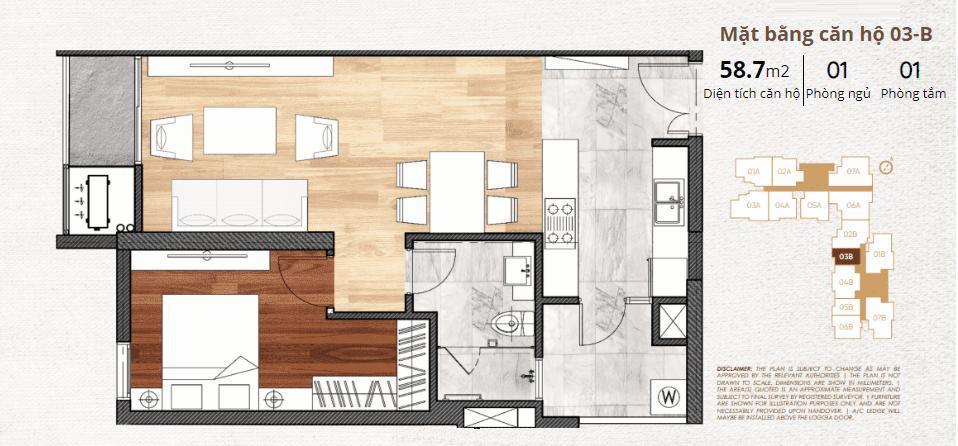 thiết kế chi tiết căn hộ 3b
