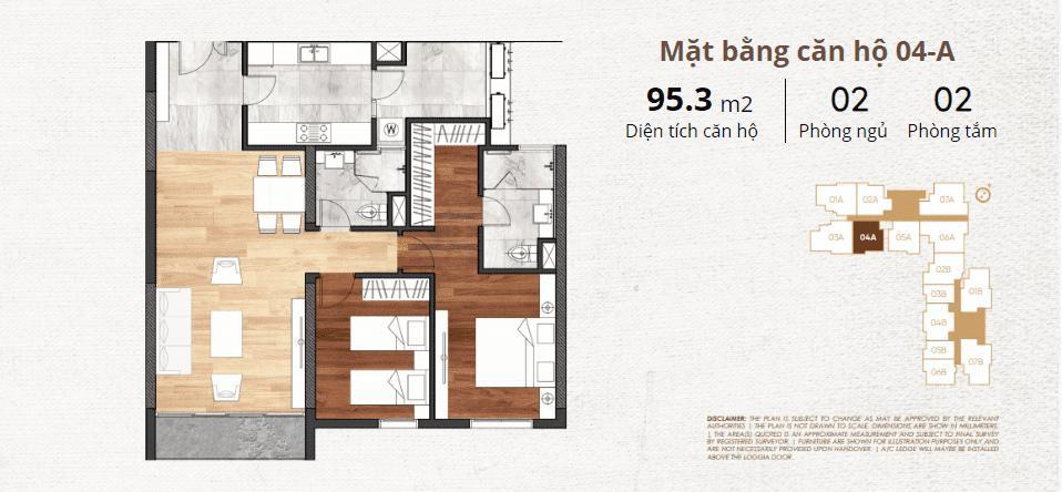 thiết kế chi tiết căn hộ 4a