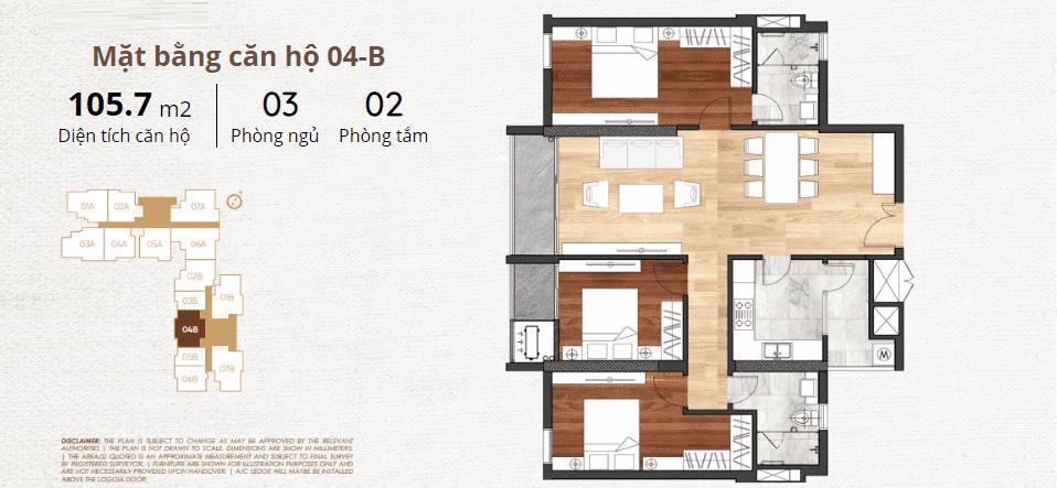 thiết kế chi tiết căn hộ 4b