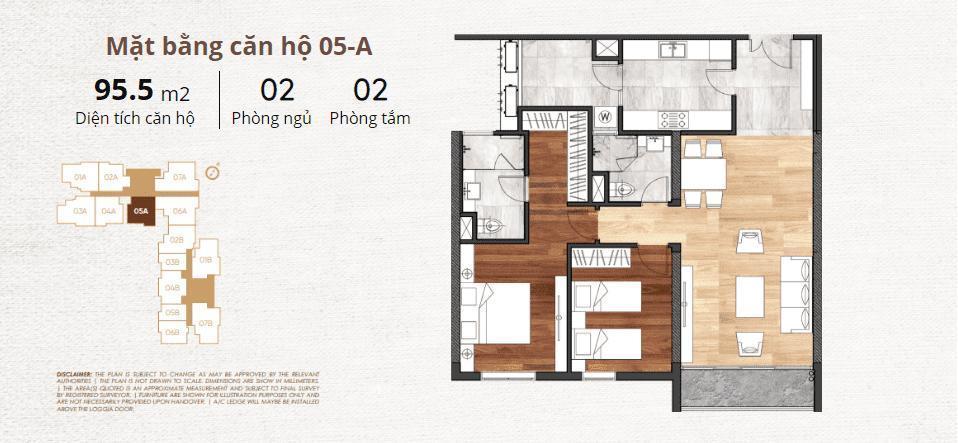 thiết kế chi tiết căn hộ 5a