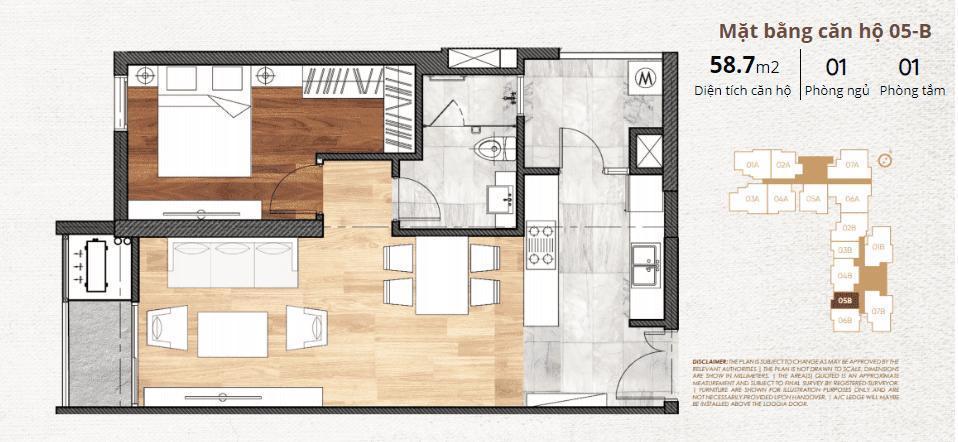 thiết kế chi tiết căn hộ 5b