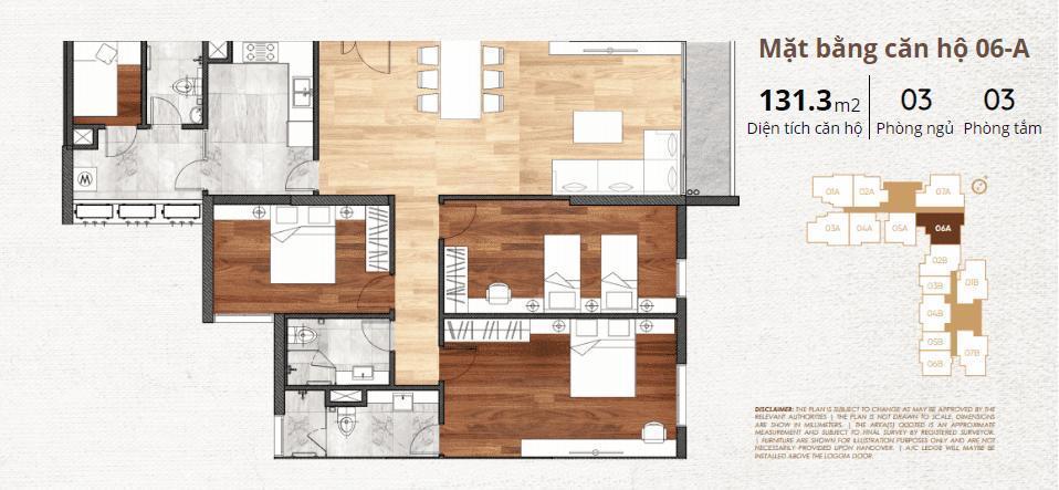 thiết kế chi tiết căn hộ 6a