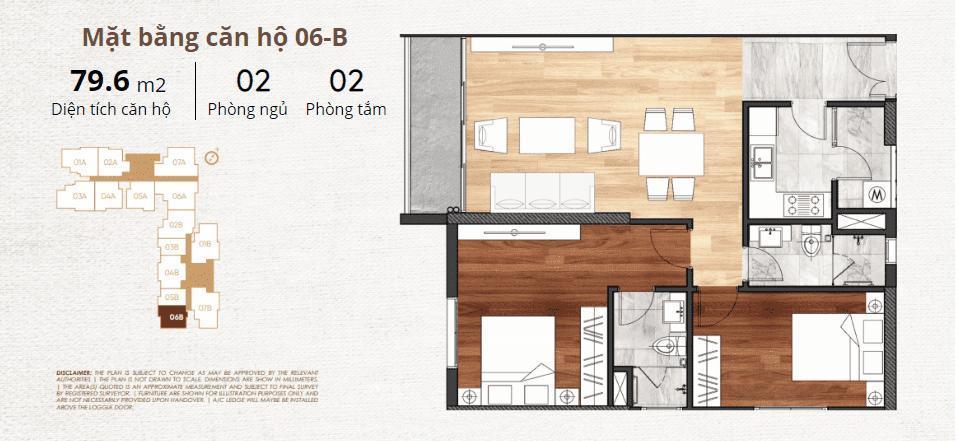 thiết kế chi tiết căn hộ 6b