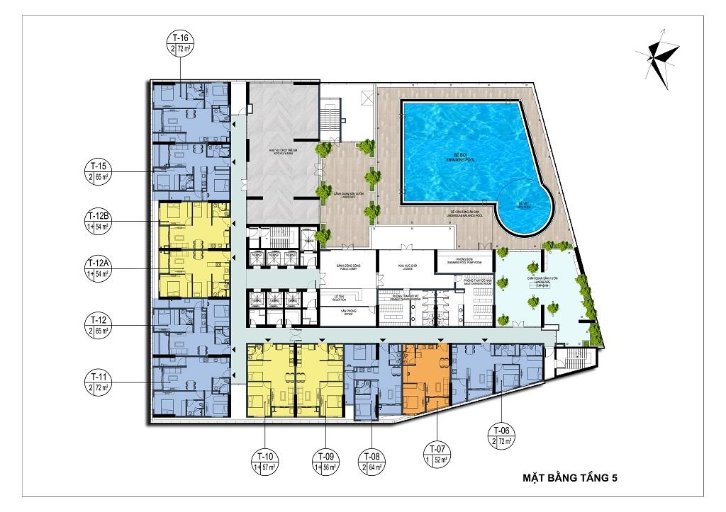 mặt bằng chung cư park view city tầng 5