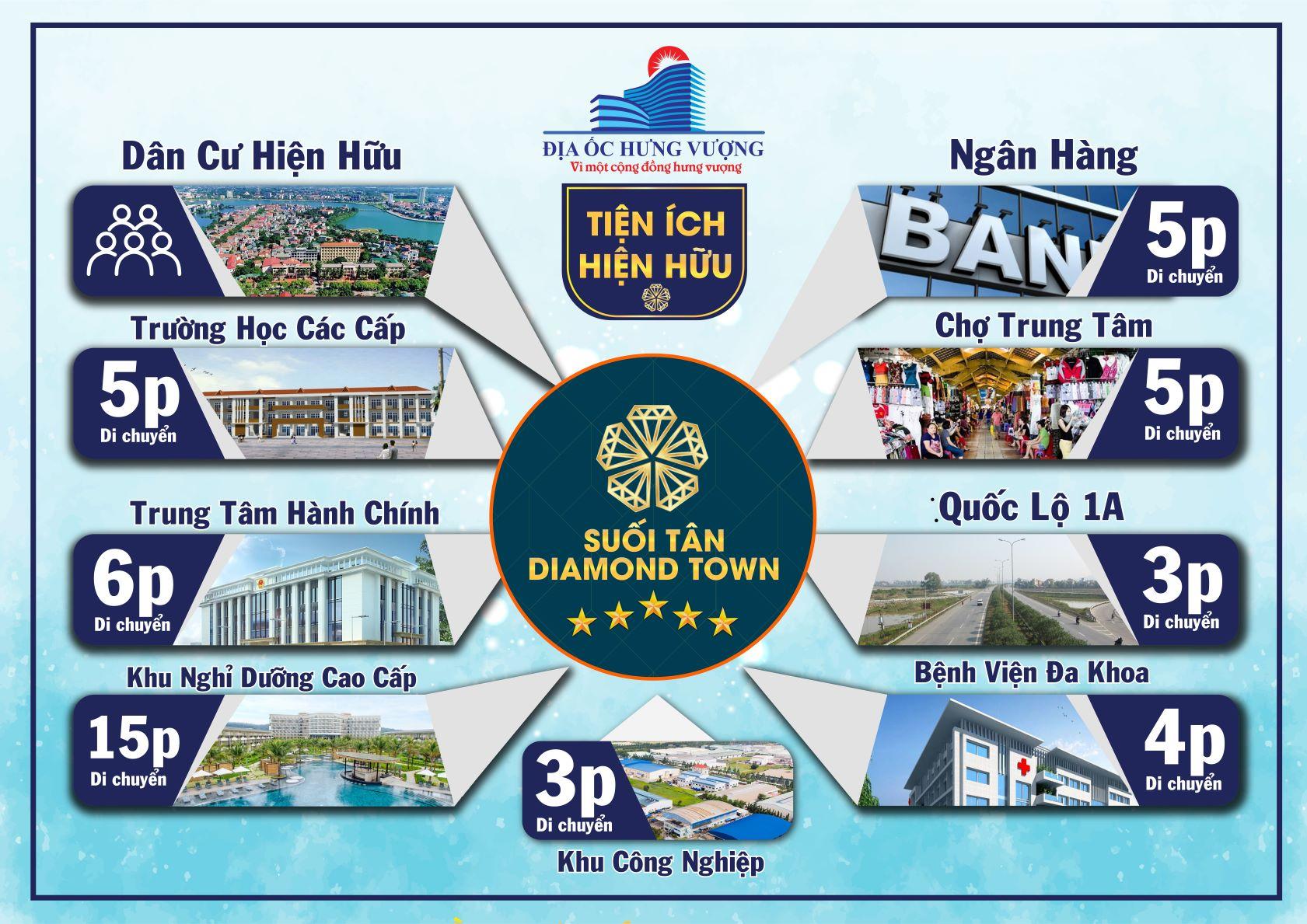 tiện ích dự án suối tân diamond town