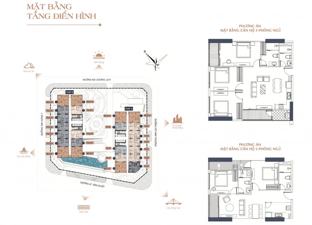 mặt bằng dự án athena luxury đà nẵng riverside