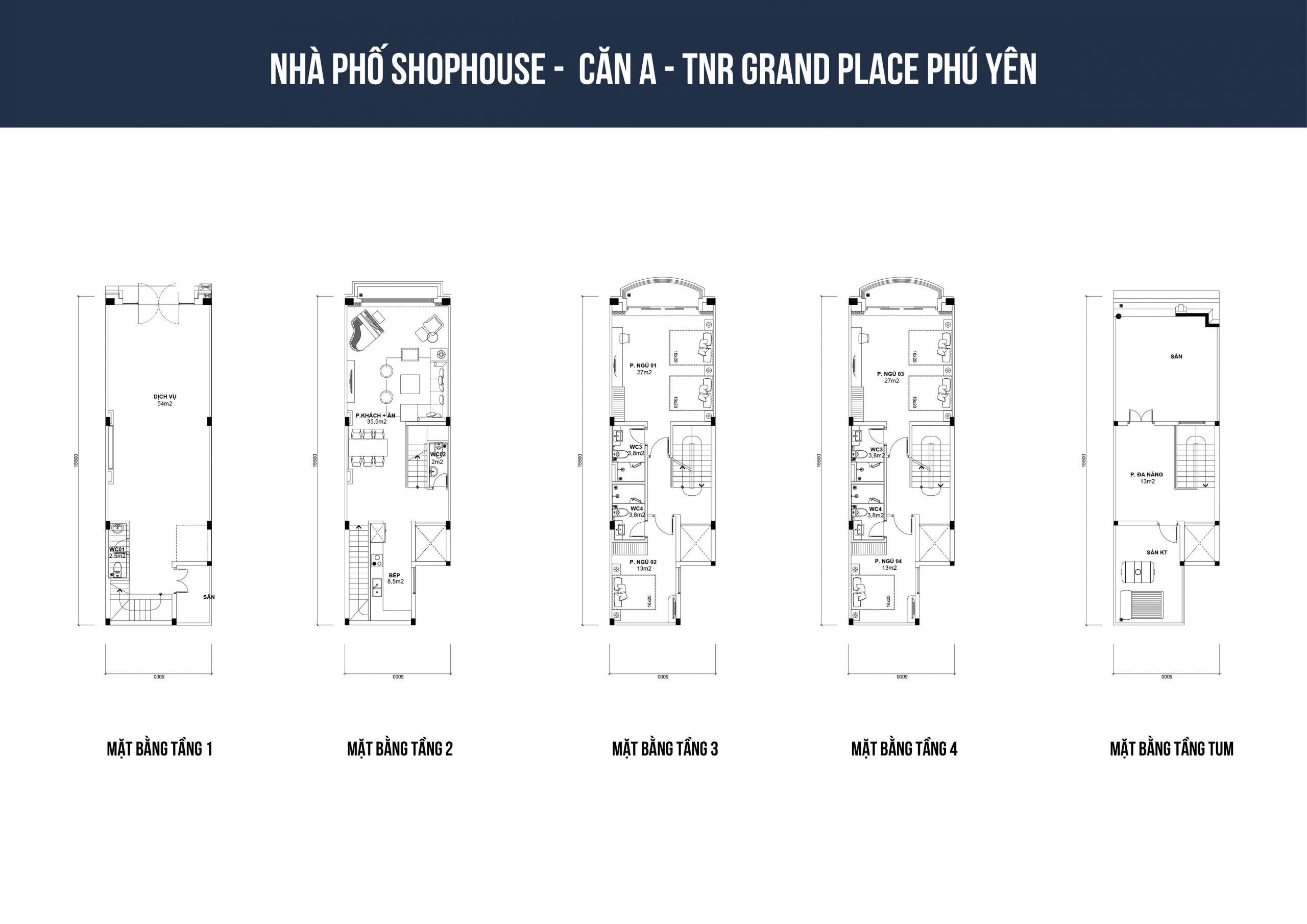thiết kế shophouse tnr phú yên loại a1