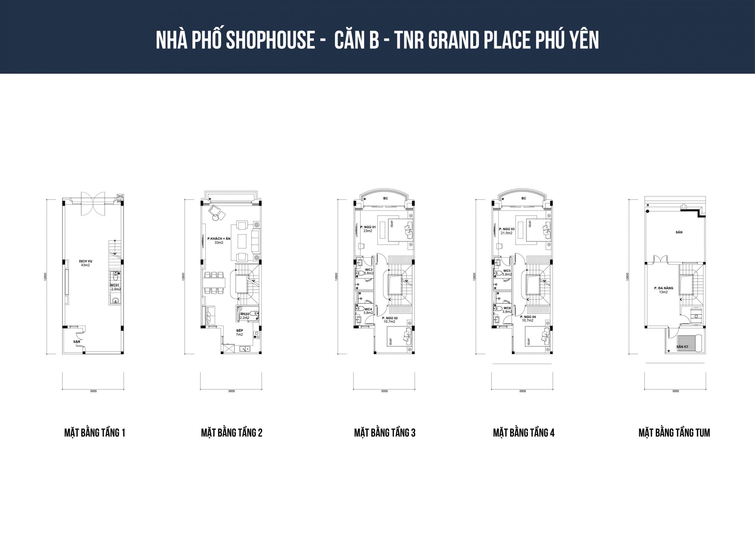 thiết kế shophouse tnr phú yên loại b1