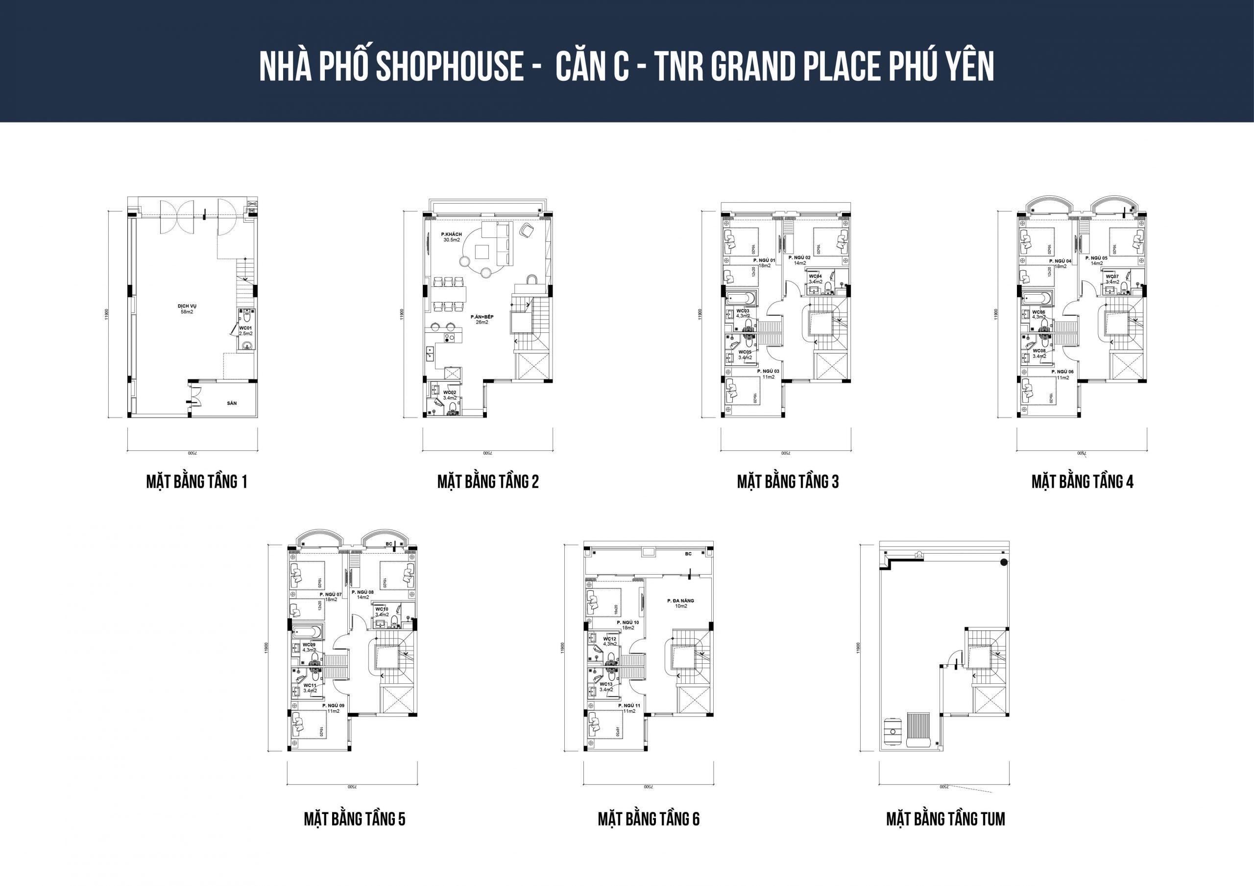 thiết kế shophouse tnr phú yên loại c1