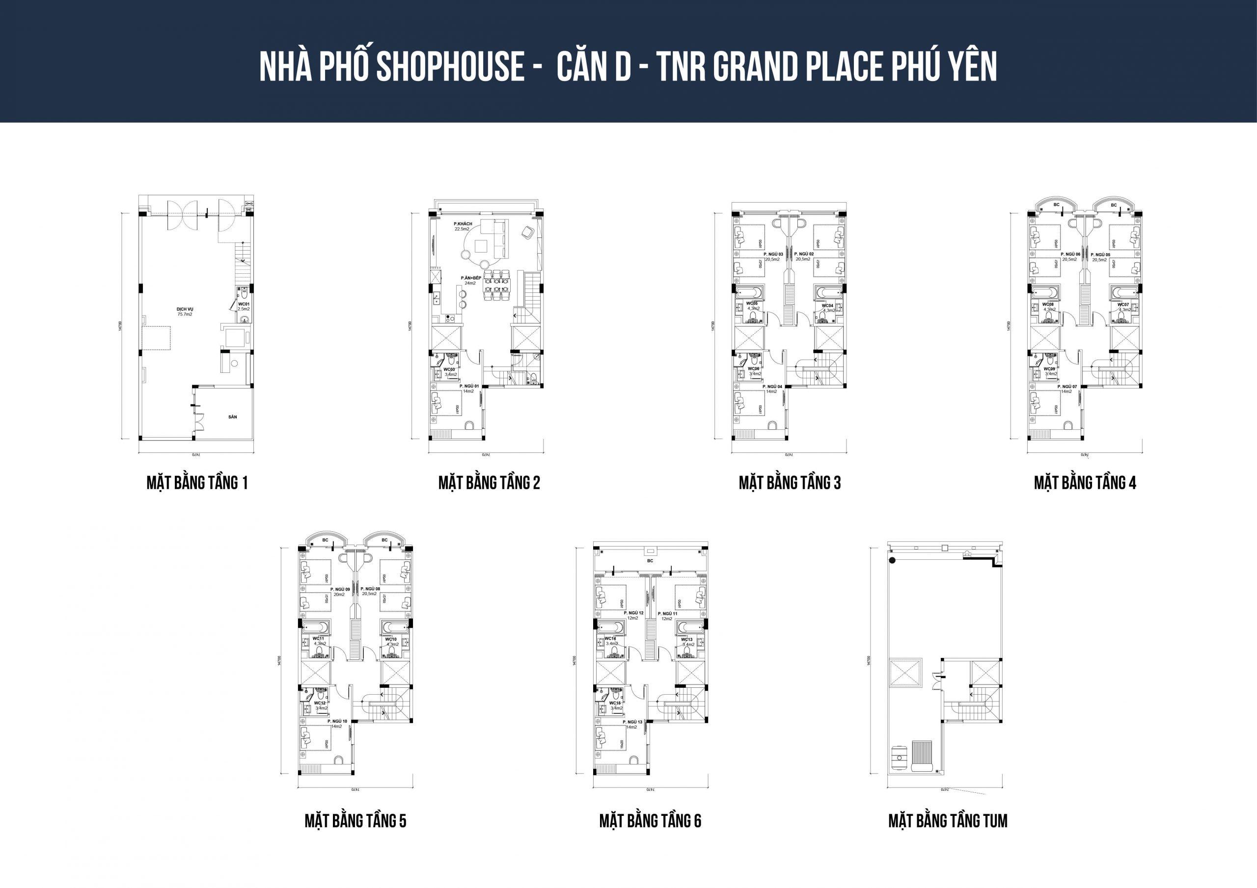 thiết kế shophouse tnr phú yên loại d1