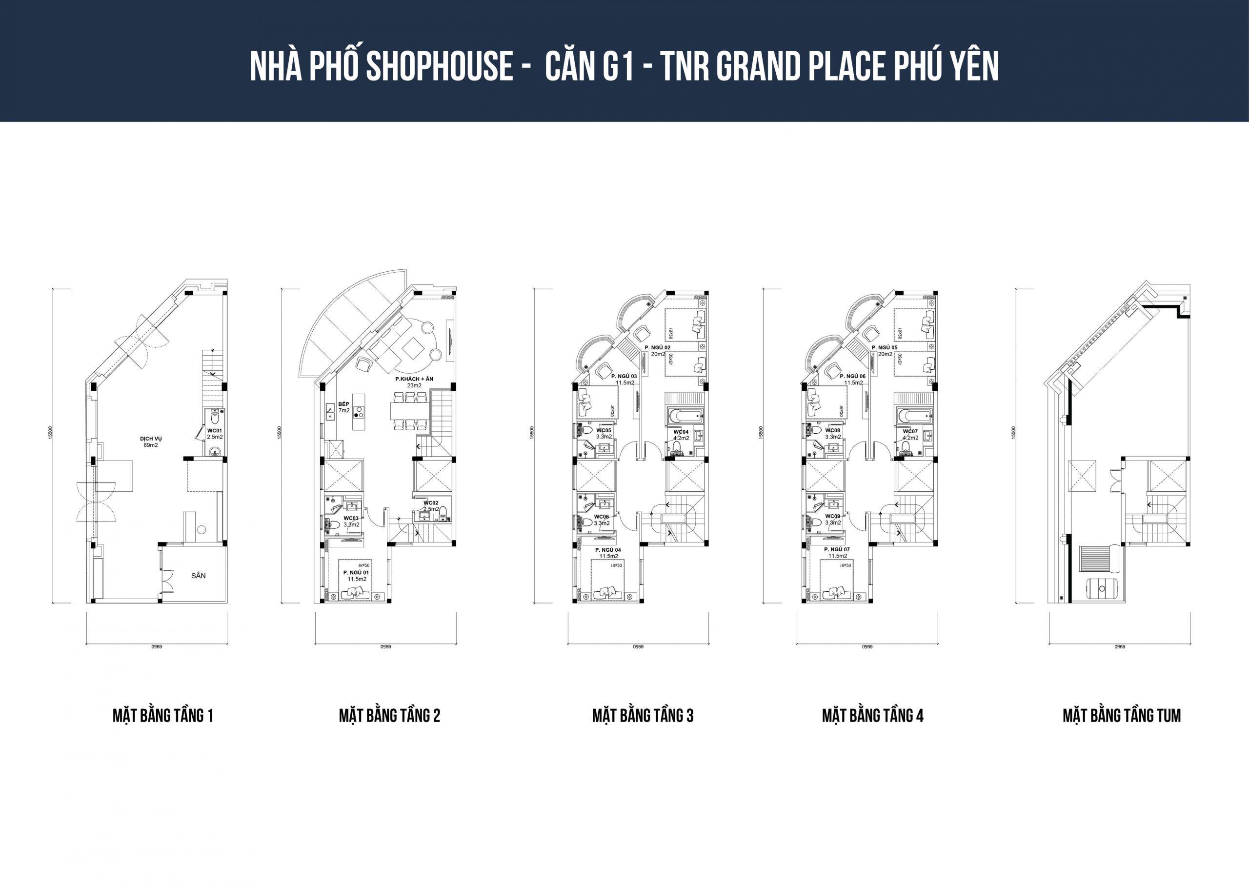 thiết kế shophouse tnr phú yên loại g1