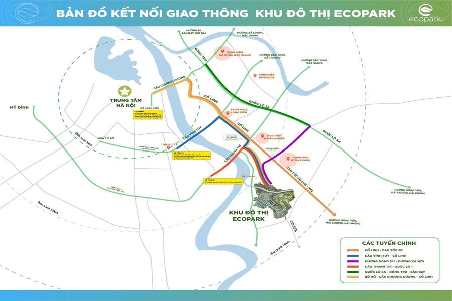 vị trí dự án làng hà lan ecopark