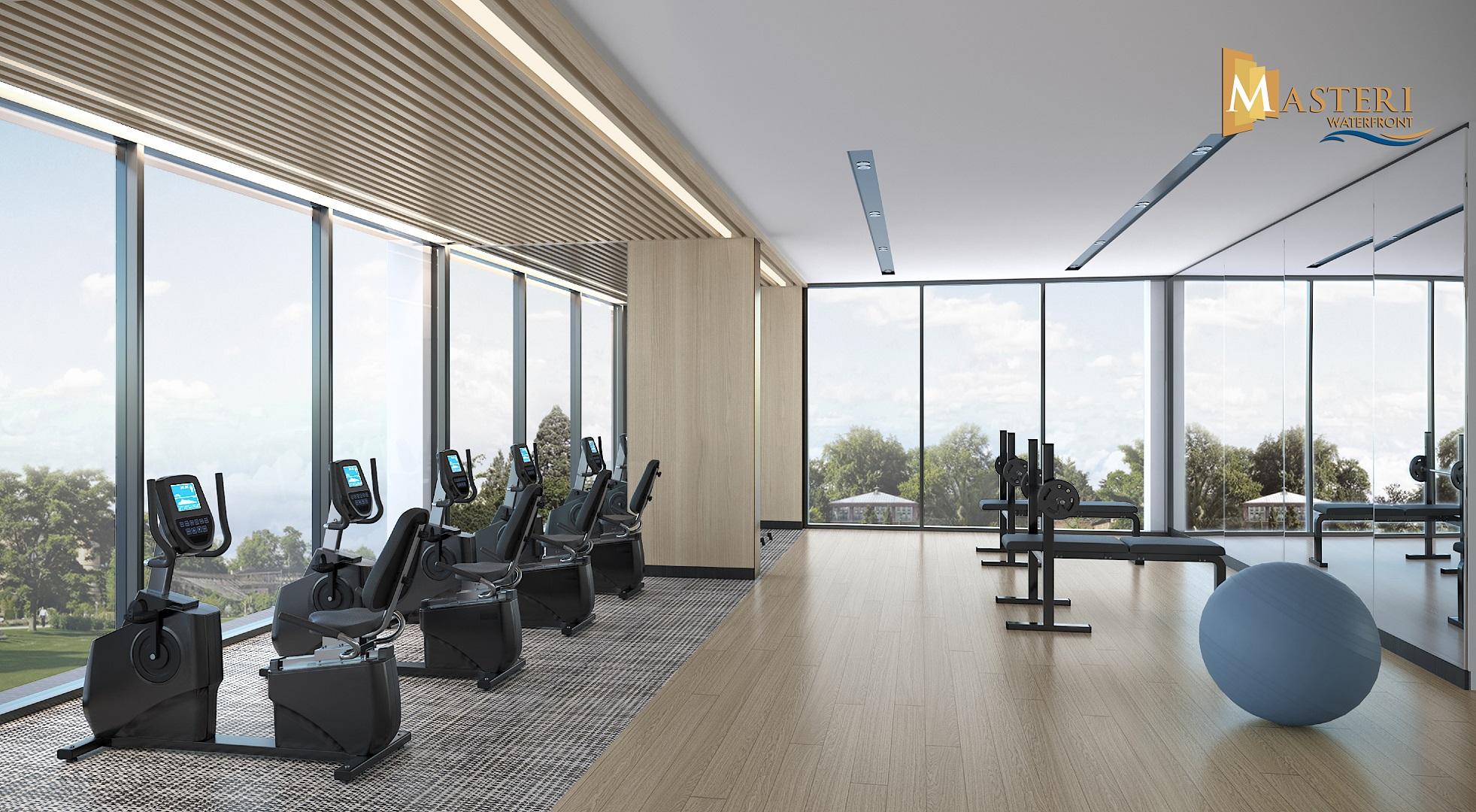 phòng gym masteri waterfront ocean park